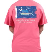 Simply Southern Preppy Coral Tee