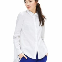 Banana Republic Womens Drapey Button Back Shirt