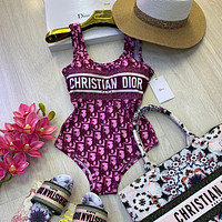 Dior Women printed One Piece Swimsuit Bikini
