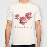 Pretty pink rose garden flower. Floral nature photography.   T-shirt by NatureMatters