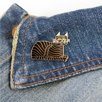 Jungle Cat Pin by Llew Mejia