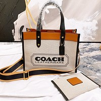 COACH Fashion New Letter Print Shoulder Bag Crossbody Bag Handbag Two Piece Suit