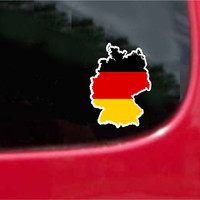 Germany  Outline Map Flag Vinyl Decal Sticker Full Color/Weather Proof.