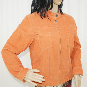 J.Jill Orange Corduroy Jacket