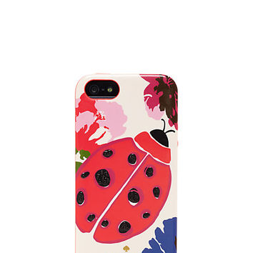 Kate Spade Spring Blooms With Ladybug Jewel Iphone 5 Case Multi ONE