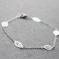 Gift New Arrival Hot Sale Awesome Stylish Shiny Great Deal Accessory Summer Metal Leaf Simple Bracelet [8451549773]