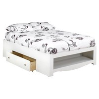 Eco-friendly 2-Drawer Full Size Storage Bed