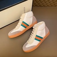 Gucci Men Fashion Boots fashionable Casual leather Breathable Sneakers Running Shoes