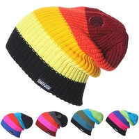 Men Women Skiing Warm Winter Hats Knitting Skating Skull Caps For Woman Turtleneck Beanies Hat Snowboard Ski Cap