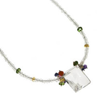 White Topaz, Tourmaline and Sapphire Necklace by Kristin Ford Jewelry with Meaning | Whisperingtree.net
