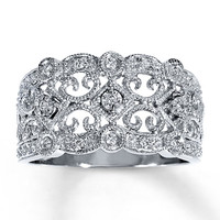 Diamond Ring 1/8 ct tw Round-cut Sterling Silver