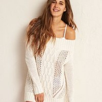 Don?t Ask Why Hi-Low Sweater , Wine   American Eagle Outfitters