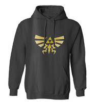 The Legend of ZELDA Triforce logo Nintendo gamer Mens Hoodie and Womens Hoodie