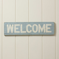 Wooden Wall Art, Welcome