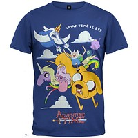 Adventure Time - Group in Cloud T-Shirt
