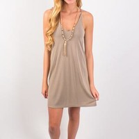 Nights With You Dress - Greige