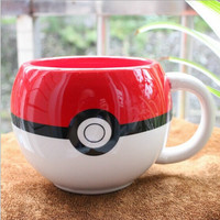Pokemon Poke Ball mug Handgrip Ceramic Coffee Mug tea Cup for boy surprise gift