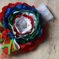 BABY HEADBAND, girl headband, toddler, m2m, matilda jane, strawberry, Easter, red, blue, green, over the top, couture, photo, lace, boutique