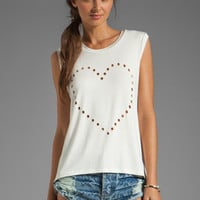 Lovers + Friends Call Me Crop Heart Tank in White from REVOLVEclothing.com