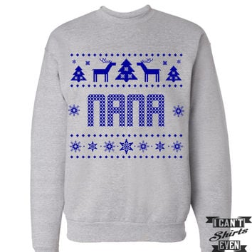 Nana Christmas Gift. Ugly Sweater. Tacky Christmas Jumper. Merry Christmas Sweater.