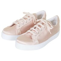 COPENHAGEN Satin Lace-Up Trainers - Topshop