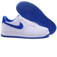 Tagre™ Nike Low to help men's shoes air force sandals leisure sports shoes Blue-white