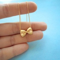 Cute, Pasta, Farfalle, Ribbon, Gold, Silver, Rose gold, Necklace