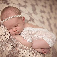 BABY CUTE ROMPER PIXIE LACE NEWBORN PHOTOGRAPHY PROPS PRINCESS GIRL