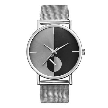 Hot Sale Mesh Stainless Steel Watches Silver Women Top Brand Luxury Casual Wristwatch Ladies Relogio Feminino Clock Gift