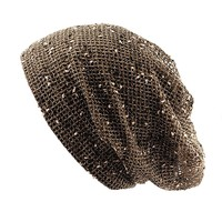 NYfashion101 Lightweight Unisex Vented Open Knit Netted Slouch Beanie Snood