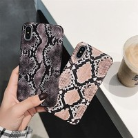 Faux Snake Skin Phone Case - For iPhone