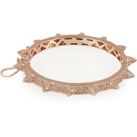 Eddie Borgo - Rose gold-plated crystal cone bracelet