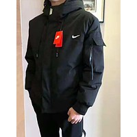 NIKE Winter Popular Men Women Cardigan Down Cotton Jacket Coat
