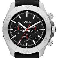 Fossil 'Retro Traveler' Chronograph Leather Strap Watch, 45mm   Nordstrom