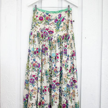 Gypsy Queen Split Skirt - Cream Floral   Spell & the Gypsy Collective