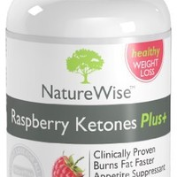 NatureWise Raspberry Ketones Plus+ Weight Loss Supplement and Appetite Suppressant , 400 mg, 120 Capsules
