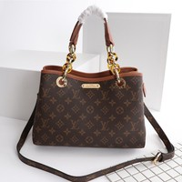 Louis Vuitton Lv Monogram Canvas Handbag Inclined Shoulder Bag #12541 - Best Deal Online