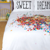 ModCloth Food A Snooze-ful of Sugar Duvet Cover in Full, Queen