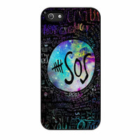 5 Seconds Of Summer Quote Galaxy iPhone 5s Case