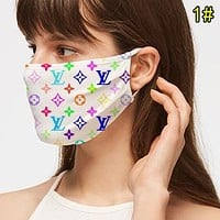 LV Louis Vuitton Best-Selling Men Women Breathable Stylish Print Mask 1#
