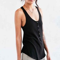 Truly Madly Deeply Anabelle Thermal Henley Tank Top