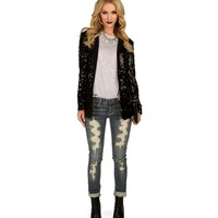 Promo- Black Celebration Sequin Blazer