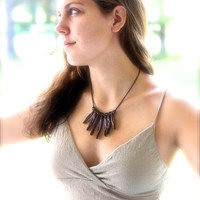 Copper and Leather Statement Necklace