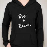 "Friends TV Show F.R.I.E.N.D.S ""Ross + Rachel"" Unisex Adult Hoodie Sweatshirt"