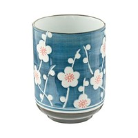 White flower tea cup