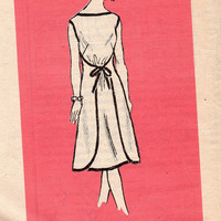 Vintage Style Apron Wrap and Go Dress Walkabout Walkaway Anne Adams Sewing Pattern Uncut FF Size 12 Bust 34