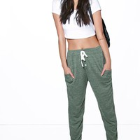 Mireia Melange Button Front Relaxed Joggers | Boohoo