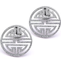 Inox 316L Stainless Steel Grecian Made Medallion Earrings | Body Candy Body Jewelry