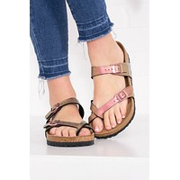 Mayari Birko-Flor Birkenstocks | Graceful Gemm Red