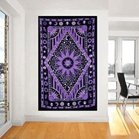 Future Handmade Tapestry Twin Celestial Galaxy Magical Tapestry wall hangings Sun Moon Stars Home Decor Bedspread